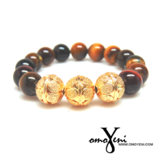 Tiger eye and Vermeil beads