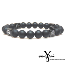 Pyramid Matte Black Bracelet