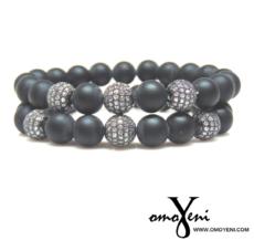 Unisex Matte Black Bracelet